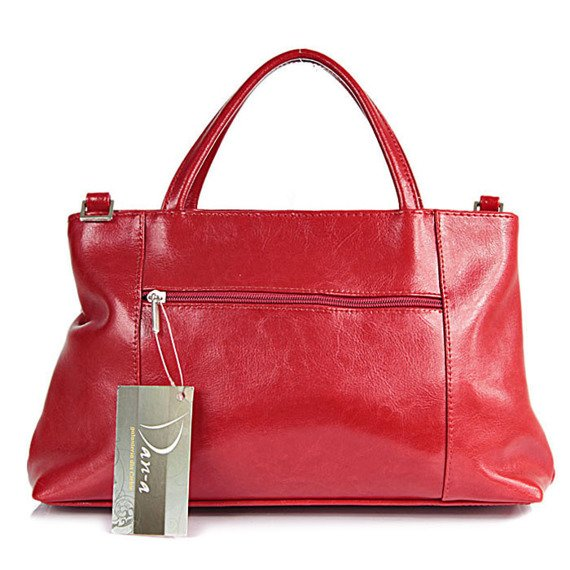 Torebka skórzana damska kuferek DAN-A T146 czerwona