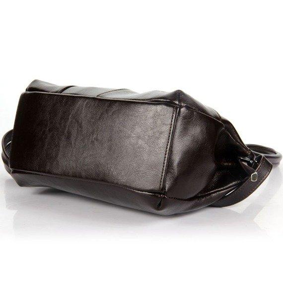 Torebka skórzana damska kuferek DAN-A T171 czekoladowa