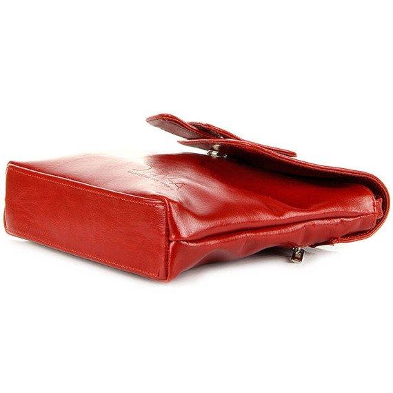 Torebka skórzana damska listonoszka DAN-A T123 czerwona