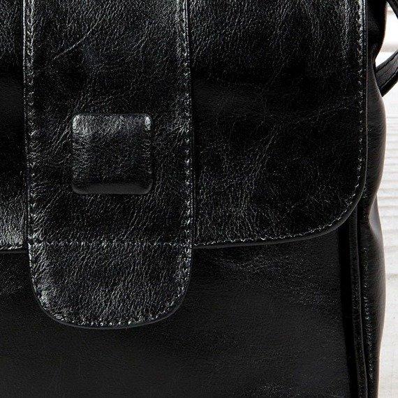 Torebka skórzana damska listonoszka DAN-A T123A czarna