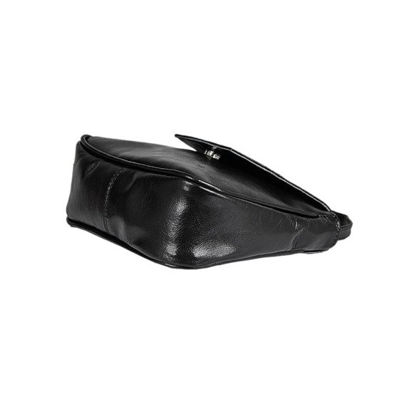 Torebka skórzana listonoszka DAN-A T230 czarna