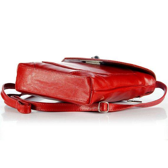 Torebka skórzana listonoszka DAN-A T264 czerwona