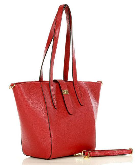 Trapezowy shopper czerwony MARCO MAZZINI  410d