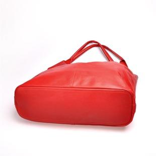 Włoska torebka skórzana worek MADE IN ITALY Spalla 222 czerwona