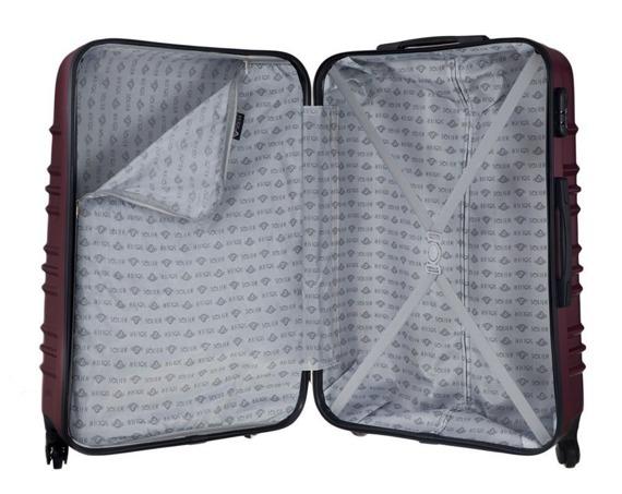 Zestaw walizek podróżnych STL838 burgundowy