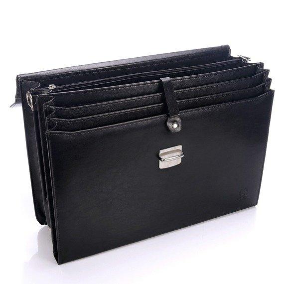 teczka aktówka męska na laptopa PAOLO PERUZZI GA166 czarna